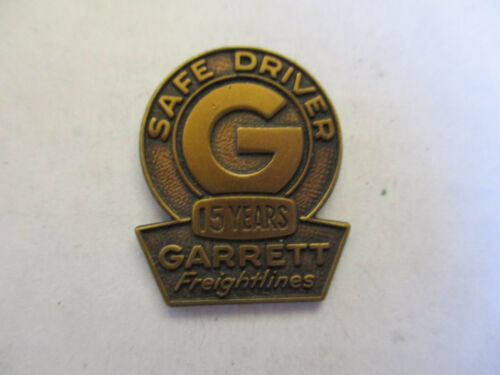 Garrett 15yr Trucking Truck Driver Employee Safety Award Pin