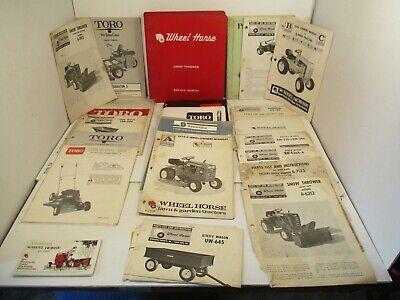 24 - Toro Wheel Horse Tractor Riding Mower Service Farm Operators Manual  Parts