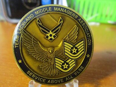 Team Lackland Middle Managers Association 433rd Airlift Wing Challenge Coin