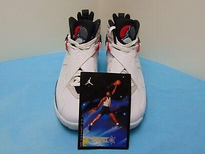 3354988bd74 2012 Nike Air Jordan 8 Retro White Black True Red Mens Size 9 305381-103