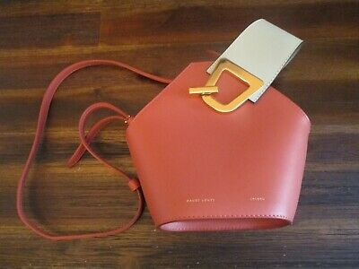 Danse Lente Leather Mini Johnny Bucket Bag Rosewood Geometric