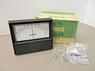 Jewel Electrical  45tb Opposing Scale Panel Meter Rpm 250-0-250 821909-296