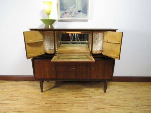 Mid Century Teak Cocktail Cabinet, Beautility Sideboard Bar
