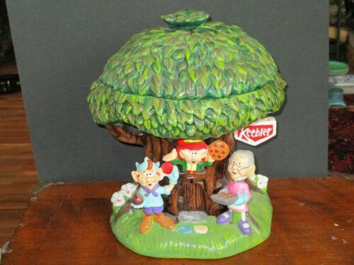 KEEBLER MILLENNIUM HOLLOW TREE ELF COOKIE JAR - FIRST EDITION 2000