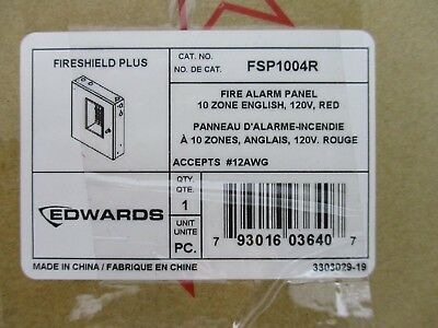 New Edwards Fsp1004r - Conventional Fire Alarm Control Panel