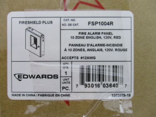 (NEW) EDWARDS FSP1004R - CONVENTIONAL FIRE ALARM CONTROL PANEL