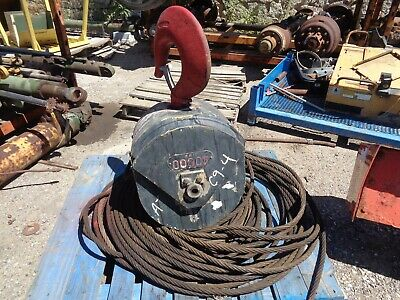 Crane Hook Block 2-sheave With Wire Cap40000 Lbs