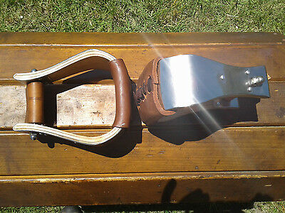 "3"" Stainless Monel Bell Ranch Roping Saddle Stirrups"