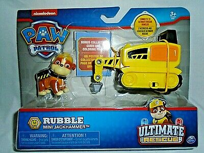 Nickelodeon Paw Patrol Rubble Mini Jackhammer Ultimate Rescue -