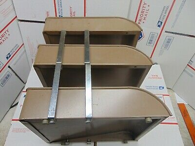 Gwsystem Vintage Mid Century Modern Industrial Metal Letter Paper File Desk Tray