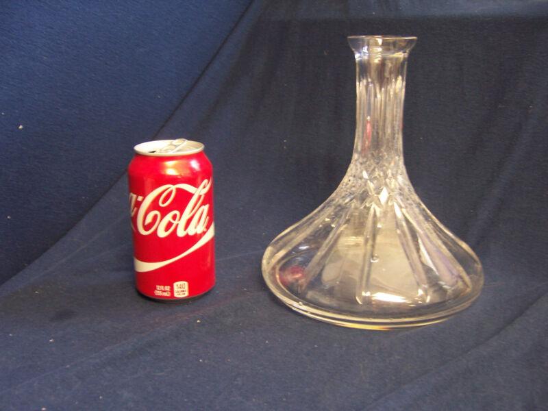 WEDGWOOD WIDE fat bottom BASE crystal clear GLASS VASE decanter vintage