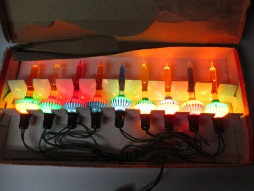 Old 9 Light C-6 NOMA Christmas Bubble Light Set - Original Box w Cord - #24