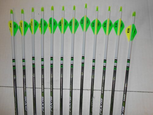 Easton Axis 340 5mm Hunting Carbon Arrows! Crested/Dipped Bohning Blazer Vanes