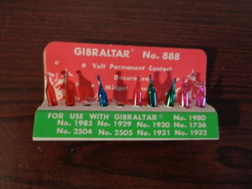 VTG Gibralter 6V Colored Midget Lamp Screw in Replace Christmas Bulbs 8/10 JAPAN
