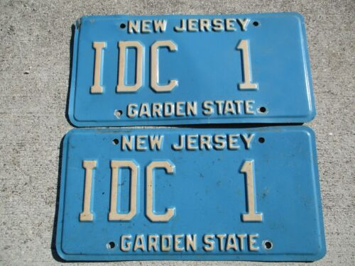 New jersey license plate pair #    IDC   1