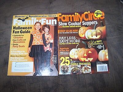 2 Halloween Magazines Family Circle & Family Fun, Costumes Recipes Decorations +](Family Circle Magazine Halloween Recipes)