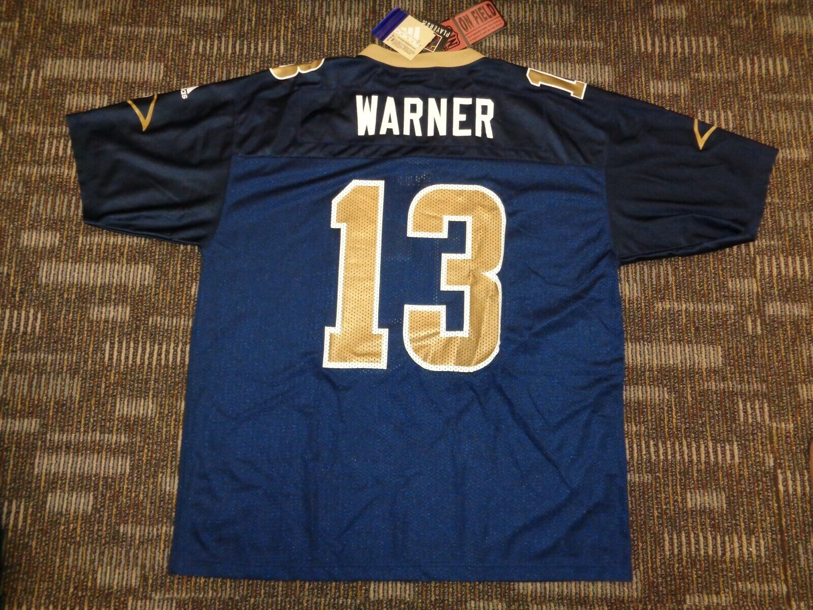 NWT KURT WARNER 13 LOS ANGELES ST.LOUIS RAMS ADIDAS NFL GAME FOOTBALL JERSEY XL - $49.99