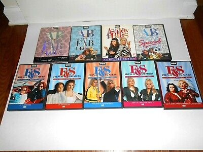 Lot of 9:  [4] Absolutely Fabulous & 5] French & Saunders DVD ] Rare + Fast Ship