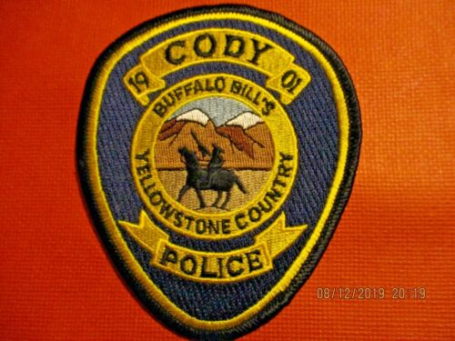 Collectible Wyoming Police Patch,Cody,New