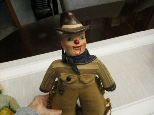 Antique/ Vintage Composition Pre War Character Doll Cowboy Western