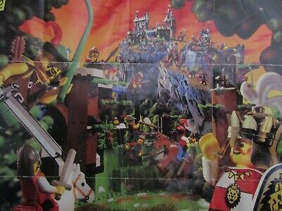 Vintage (1996) LEGOLAND Product Dark Forest Castle Lion Knight Set Poster - RARE