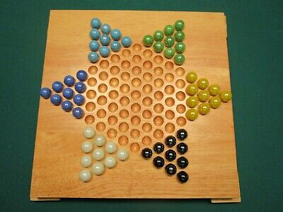 Solid Wood Chinese Checkers 2005 Target Brand in original box Complete and (Solid Wood Checkers)