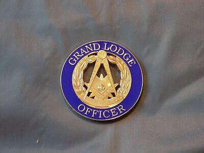 "Masonic 3"" Car Emblem Grand Lodge Officer Past Master Fraternity  Metal NEW!"