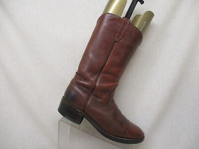 Acme Brown Leather Pull On Cowboy Western Boots Size 8.5 E Style 9096