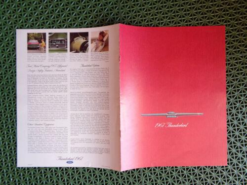 1967 Ford THUNDERBIRD sales brochure