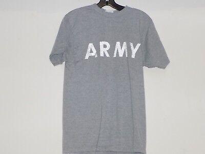 US Army PFU Tee Shirt Heather Grey PT Physical Training Uniform Reflective