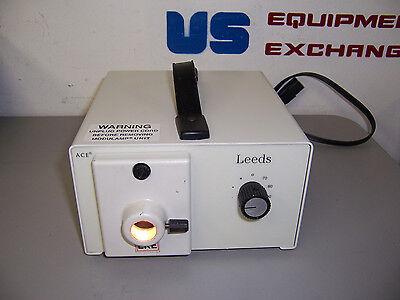8995 Leeds Fostec 2050014 Eke 150 Watt Fiber Optic Microscope Light Box