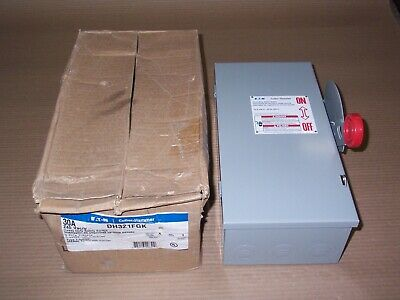 New Eaton Dh321fgk 30 Amp 240v Fusible Safety Switch Disconnect Nib Shelfware