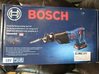 Bosch CRS180-B15 D-Handle Reciprocating Saw Kit w/ Batt & Charger BRAND NEW