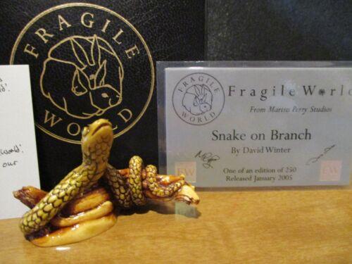 Harmony Kingdom MPs Fragile World Snake on Branch Marble Resin Figurine