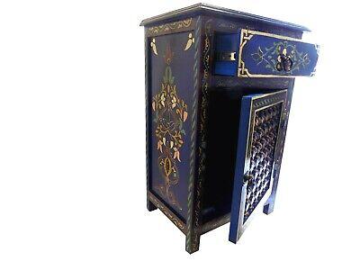 Moroccan Navy Blue Dresser Nightstand End Table Arabic Design Furniture  ()