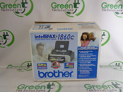 Brand New Open Box Brother Intellifax-1860c Color Inkjet Fax And Copier