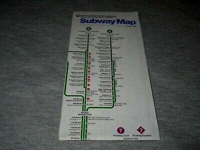 NEW YORK CITY SUBWAY MAP-OCTOBER 1992-MTA-NYC TRANSIT AUTHORITY MAP Metro Transit Map