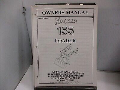 Koyker 155 Loader Owners Manual.
