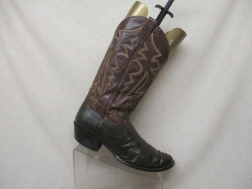 PANHANDLE, SLIM, Brown, All, Leather, Lizard, Skin, Cowboy, Western, Boots, Mens, Sz, 10.5, D