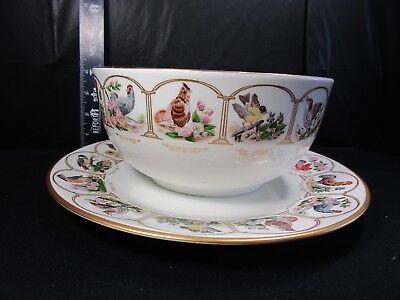 BOEHM  Birds and Flowers Of The Thirteen Original States   Bowl & Plate Set