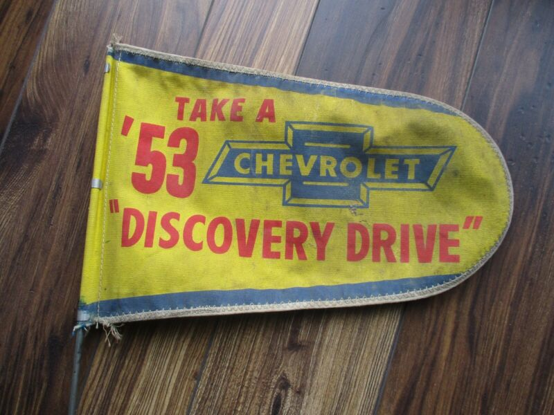 1953 CHEVROLET CORVETTE BEL AIR PROMOTIONAL FLAG