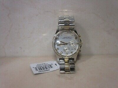 MARC JACOBS BY HENRY WOMENS CHRONOGRAPH WATCH MBM3197 SILVER DIAL