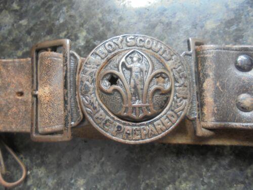 Boy Scout Memorabillia Vintage Embossed Leather Belt Be Prepared