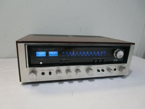Vintage Sansui 6060 Stereo Receiver w/ LED Upgraded Dial Lamps -Serviced ->Cool!