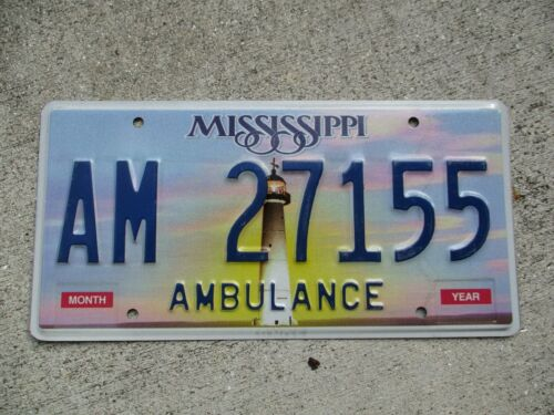 Mississippi Ambulance  license plate #  27155
