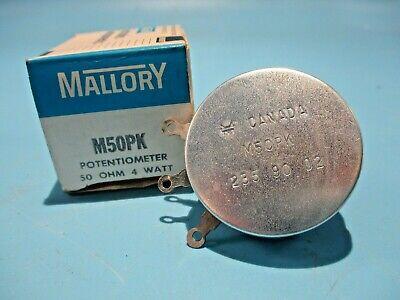 New Mallory M50pk Potentiometer 50 Ohm