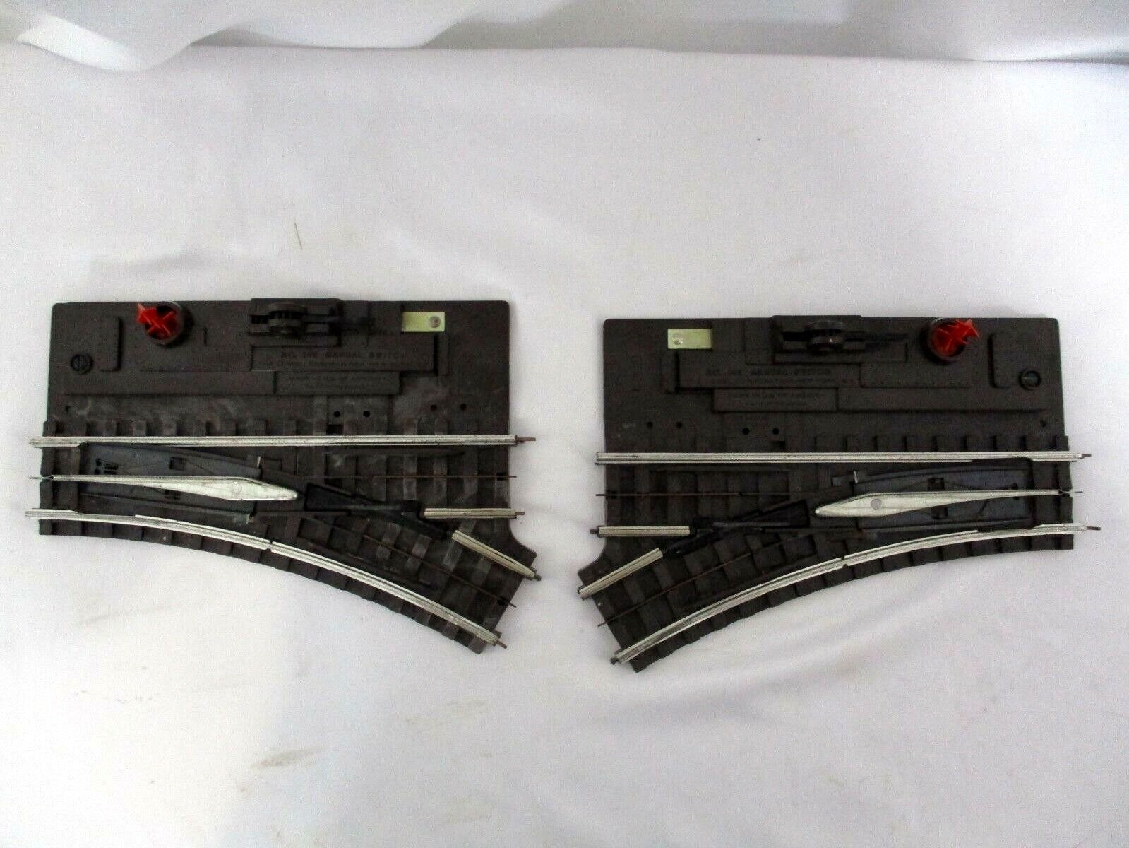 Pair of Lionel 1042 Manual Switch with Red Flags