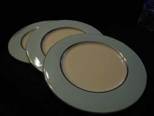 "Vintage Castleton China - Castleton Turquoise Pattern - 3 Dinner Plates 10 5/8"""
