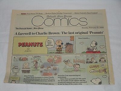 Detroit Free Press 2000 Newspapers   Comic Section   Farewell To Charlie Brown