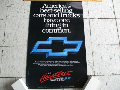 "Chevrolet Dealer Showroom Sales Poster & Tube - NOS - 38"" x 23"""